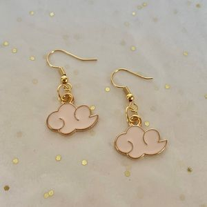 Pink Cloud Earrings by The Tangled Cotton